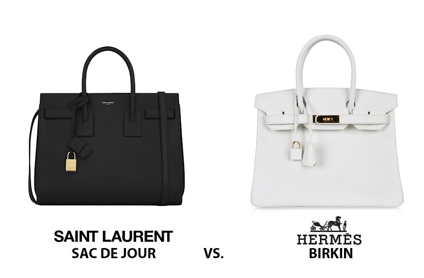 YSL Sac de Jour genellikle Hermès Birkin ile karşılaştırılır